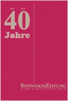 40 Jahre SonntagsZeitung Ausgabe Ammerland